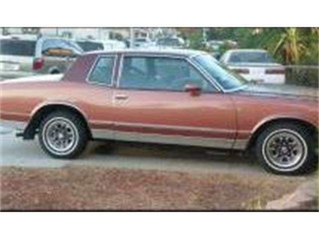 1982 Chevrolet Monte Carlo (CC-1473187) for sale in Cadillac, Michigan