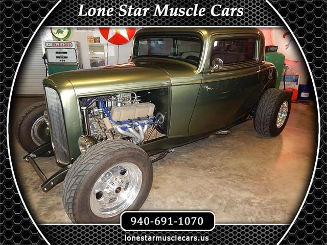 1932 Ford 3-Window Coupe (CC-1518625) for sale in Wichita Falls, Texas