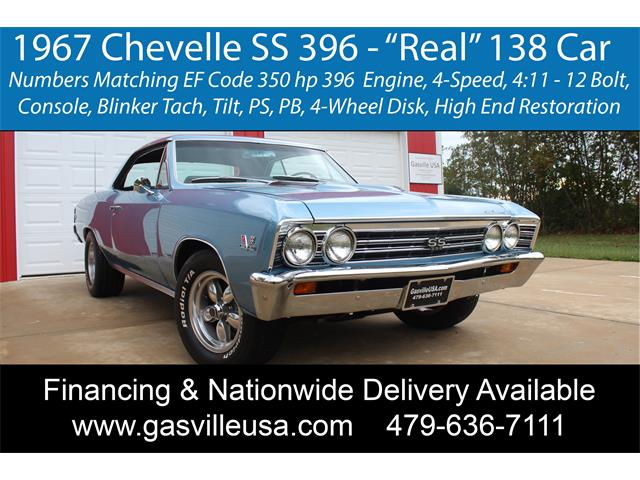 1967 Chevrolet Chevelle SS (CC-1533489) for sale in Rogers, Arkansas